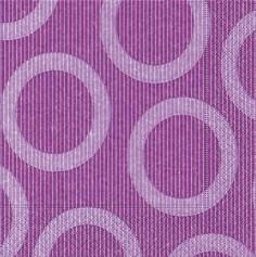 Partytischdecke.de   Servietten 33x33 Circle lilac 20 Stück