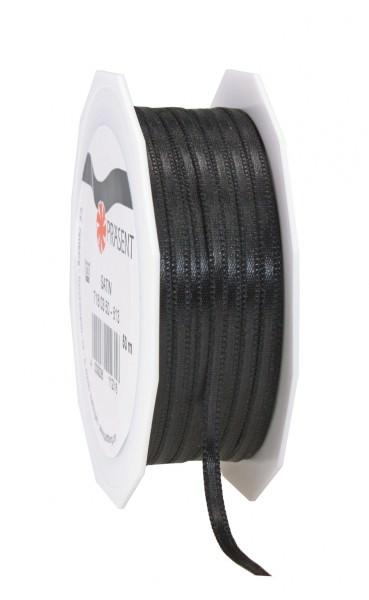 Partytischdecke.de | Satin Premium Band 3 mm x 50 m schwarz