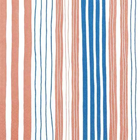 Partytischdecke.de | Servietten 33x33 Striped orange