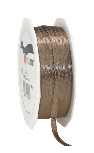 Satin Premium Band 3 mm x 50 m greige 1 Rolle