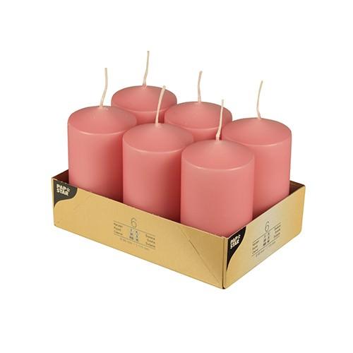 Stumpenkerzen Ø 6 x 11,5 altrosa 6er Pack