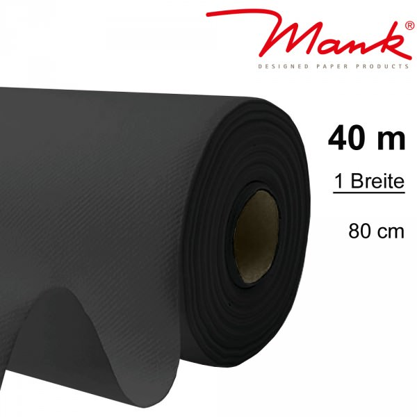 Partytischdecke.de | Tischdecke Mank Linclass 0,80 x 40 m schwarz