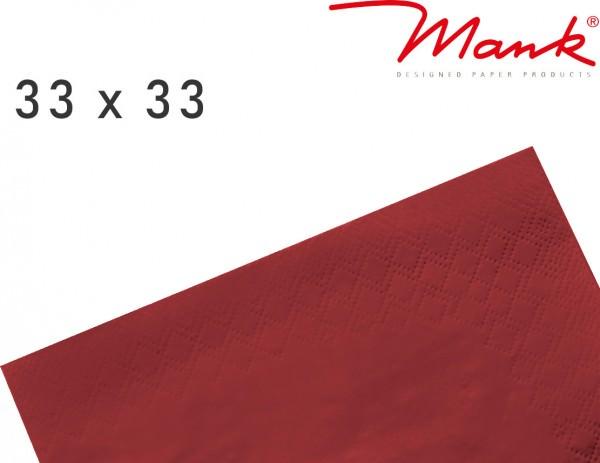 Partytischdecke.de | Serviette Mank 33x33 Tissue bordeaux