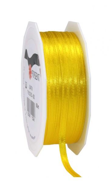 Partytischdecke,de | Satin Premium Band 3 mm x 50 m gelb