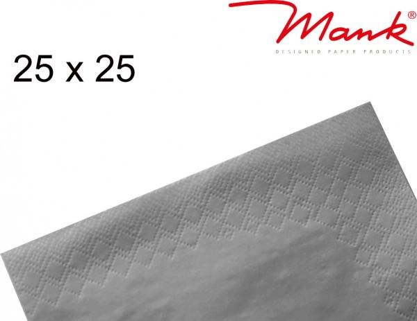 Partytischdecke.de   Serviette Mank 25x25 Tissue grau