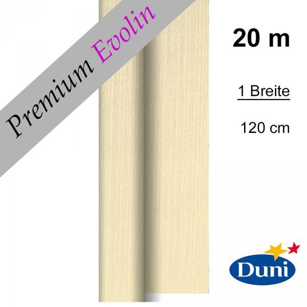 Partytischdecke.de | Premium Tischdecke Duni 1,20 x 20 m Evolin cream