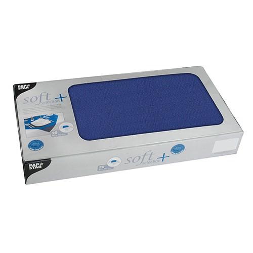 Partytischdecke.de | Mitteldecken Soft Selection Plus 80 x 80 cm dunkelblau