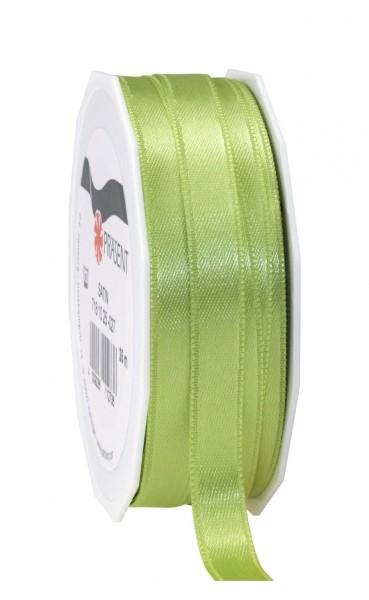 Partytischdecke,de | Satin Premium Band 10 mm x 25 m pistazie