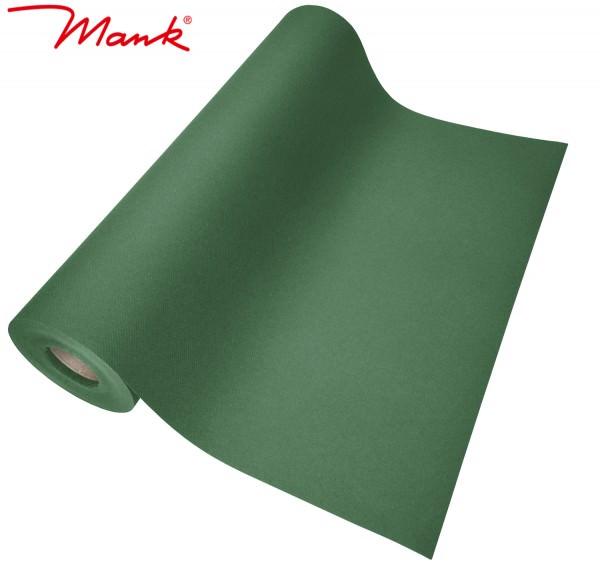 Partytischdecke.de | Tischläufer Mank Linclass 40 cm x 24 m dunkelgrün