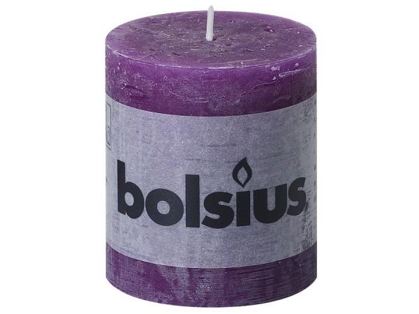Kerze Bolsius Rustic Ø 6,8 x 8 cm lila