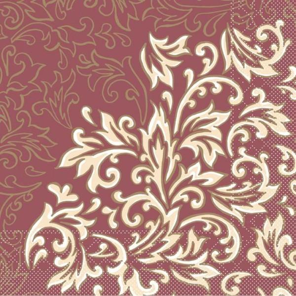 Partytischdecke.de | Serviette 40x40 Tissue  | Delia Bordeaux |  200 Stück