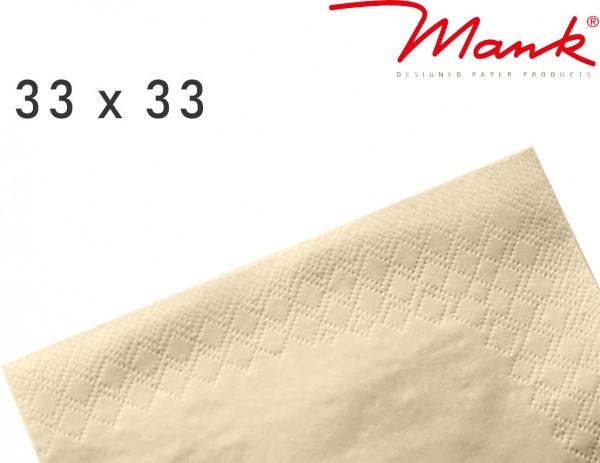 Partytischdecke.de | Serviette Mank 33x33 Tissue creme