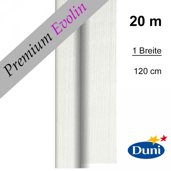 Partytischdecke.de | Premium Tischdecke Duni 1,20 x 20 m Evolin weiss