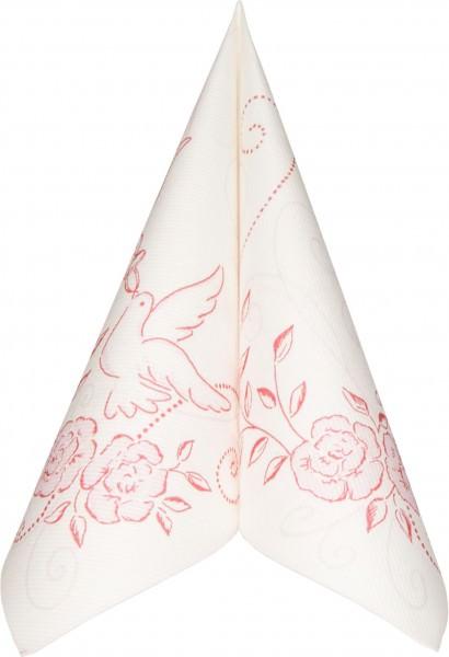 Partytischecke.de   Serviette Mank Linclass Hochzeit rose-bordeaux 40x40