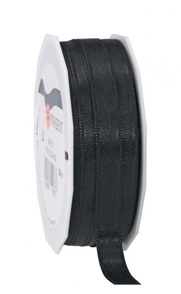 Partytischdecke.de | Satin Premium Band 10 mm x 25 m schwarz