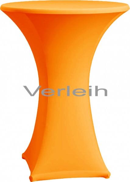 Verleih Stehtischhusse Strech Ø 70 orange 1 Stück