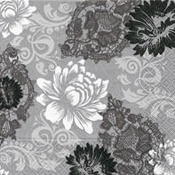 Partytischdecke.de   Servietten 33x33 Blossoms & Ornaments 20 Stück