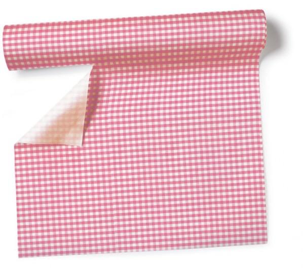 Partytischdecke.de | Tischläufer 40 cm x 3,60 m Vichy rosé