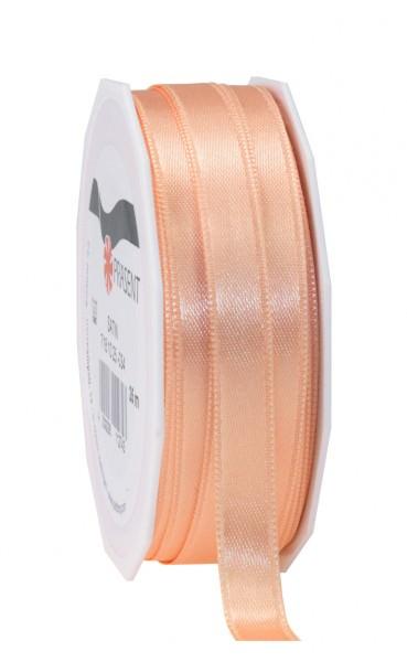 Partytischdecke.de | Satin Premium Band 10 mm x 25 m apricot