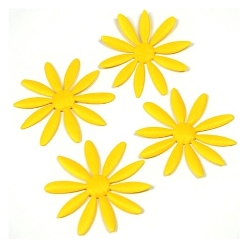 Partytischdecke.de | Deko-Accessoires Gelb | Marina | 5 Stück