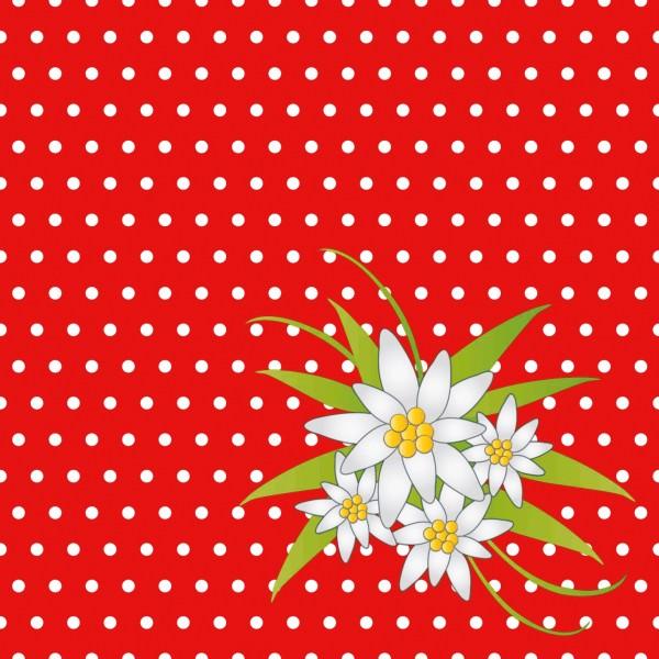 Partytischdecke.de | Duni Serviette 33x33 Edelweis rot