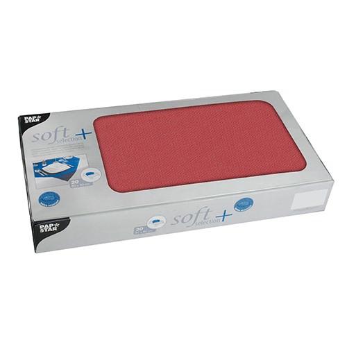 Partytischdecke.de | Mitteldecken Soft Selection Plus 80 x 80 cm rot