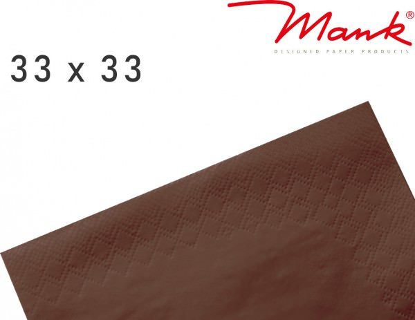 Partytischdecke.de | Serviette Mank 33x33 Tissue braun
