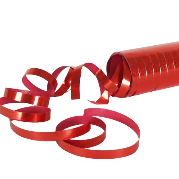 Partytischdecke.de | Luftschlangen, metallic, rot