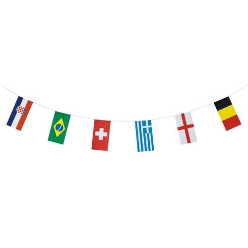 Partytischdecke.de | Flaggenkette 10 m 32 Nationen 1 Stück