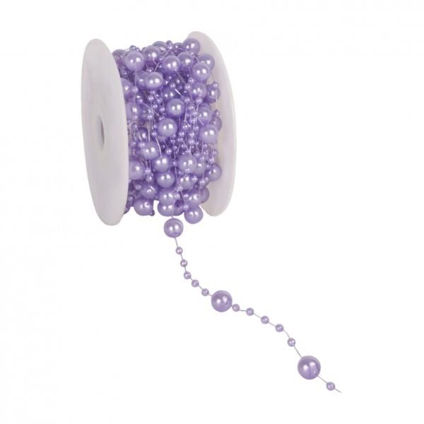 Partytischdecke.de | Perlenband 8 mm x 10 m flieder 1 Rolle