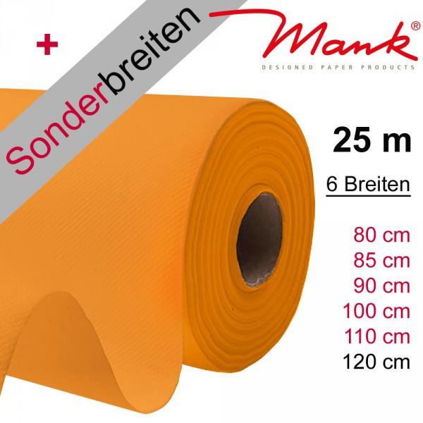 Partytischdecke.de | Tischdecke Mank Linclass orange 25 m x Breite