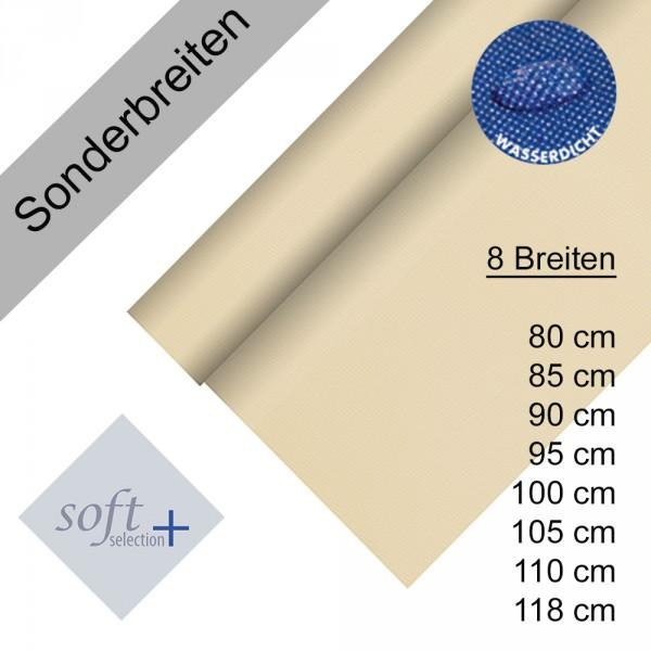 Partytischdecke.de | Tischdecke Soft Selection Plus creme 25 lfm Auswahl