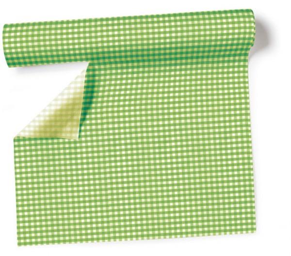 Partytischdecke.de | Tischläufer 40 cm x 3,60 m Vichy green