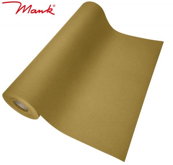 Partytischdecke.de   Tischläufer Mank Linclass 40 cm x 24 m gold