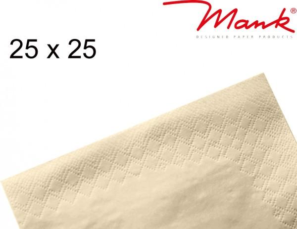 Partytischdecke.de | Serviette Mank 25x25 Tissue creme