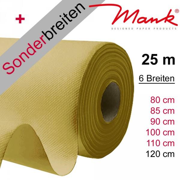 Partytischdecke.de | Tischdecke Mank Linclass gold 25 m x Breite