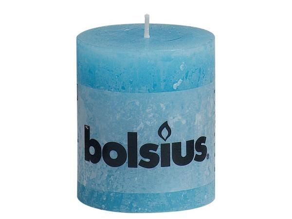 Kerze Bolsius Rustic Ø 6,8 x 8 cm aquablau