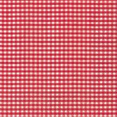 Partytischdecke.de | Servietten 33x33 Vichy red 20 Stück