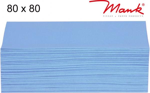 Partytischdecke.de | Mitteldecke 80 x 80 cm Mank Linclass hellblau
