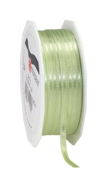 Partytischdecke,de | Satin Premium Band 3 mm x 50 m pastellgrün