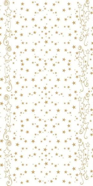 Partytischdecke.de | Mank Tischläufer Linclass 0,40 x 24 m Glitter Weiss