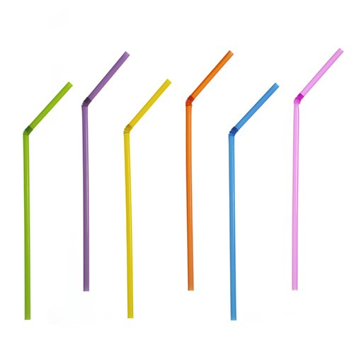 Partytischdecke.de | Trinkhalme Ø 5 mm x 21 cm | Summer Colours | 40 Stück