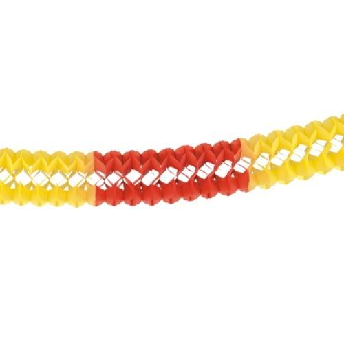 Partytischdecke.de | Großraumgirlande  Ø 16 cm x 4 m rot-gelb-rot 1 Stück