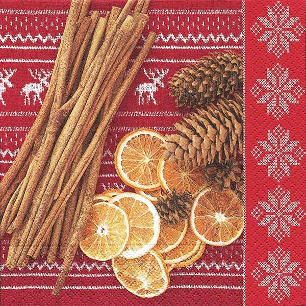 Partytischdecke.de | Servietten 33x33 Holiday scents 20 Stück