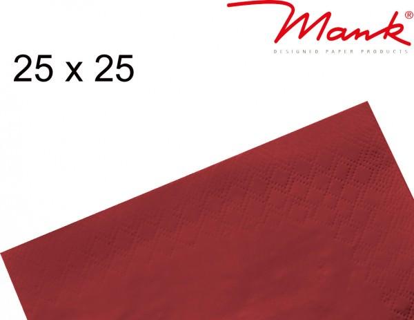 Partytischdecke.de | Serviette Mank 25x25 Tissue bordeaux