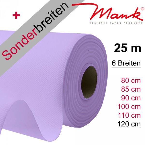Partytischdecke.de | Tischdecke Mank Linclass flieder 25 m x Breite