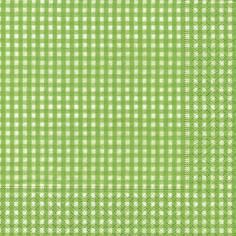 Partytischdecke.de | Servietten 33x33 Vichy green 20 Stück