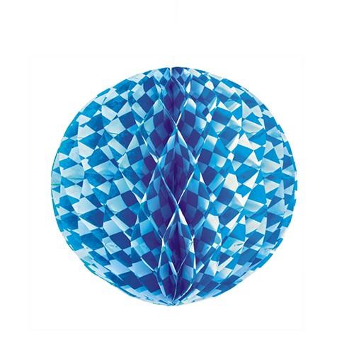 Partytischdecke.de | Wabenball Ø 30 cm Bayerisch Blau 1 Stück