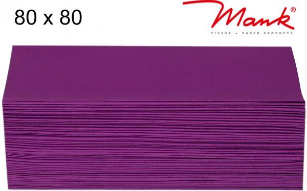 Partytischdecke.de   Mitteldecke 80 x 80 cm Mank Linclass aubergine