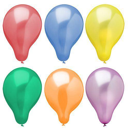 Partytischdecke.de | Luftballons Ø 25 cm farbig sortiert Metallic 25 Stück